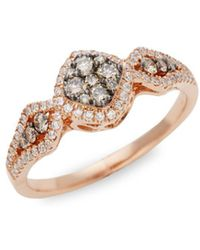Le Vian - Chocolatier® 14k Strawberry Gold®, Chocolate & Vanilla Diamondtm Ring - Lyst