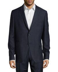 Strellson Plaid Wool Blazer