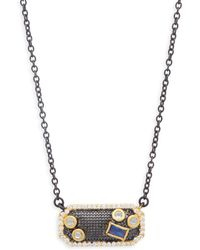Freida Rothman - Cubic Zirconia & Sterling Silver Mosaic Pendant Necklace - Lyst