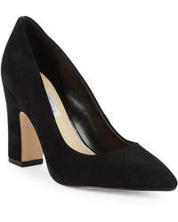 9df0a68b4c Saks Fifth Avenue Kembra Suede & Leather Peep-toe Brouge Pumps in ...