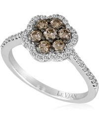 Le Vian - Chocolatier® 14k White Gold & Diamond Flower Ring - Lyst