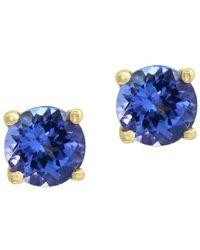 Effy - 14k Yellow Gold & Tanzanite Earrings - Lyst