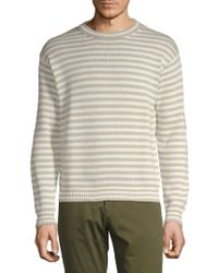 Prada - Maglia Striped Cotton Jumper - Lyst