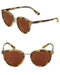 Oliver Peoples - Spelman 50mm Round Sunglasses - Lyst