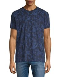 Ben Sherman - Botanical-print Cotton Tee - Lyst