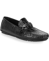 Roberto Cavalli - Exotic Leather Driving Loafers - Lyst