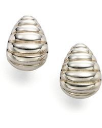 John Hardy - Bedeg Sterling Silver Buddha Belly Earrings - Lyst