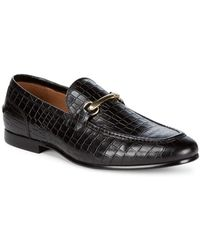 Saks Fifth Avenue - Firenze Leather Croc Loafers - Lyst