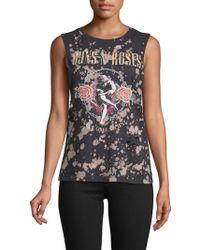 Mimi Chica - Guns N Roses Cotton Tank Top - Lyst