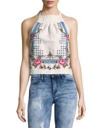 Free People - Honey Pie Embroidered Tan - Lyst