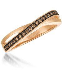 Le Vian - Chocolatier® 14k Strawberry Gold® & Chocolate Diamond® Ring - Lyst
