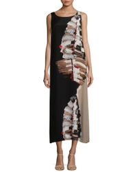 Lafayette 148 New York - Palmer Leaf-print Silk Maxi Dress - Lyst