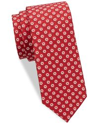 Eton of Sweden - Floral Diamond Silk Tie - Lyst