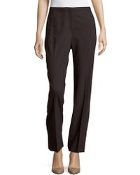 T Tahari - Diamond Solid Straight-fit Pants - Lyst