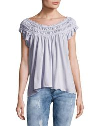 Free People - Ruched Gathered Top - Lyst