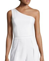 52c4a0750e0513 Alice + Olivia - Sabina One-shoulder Cropped Top - Lyst