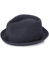 Block Headwear - Braided Rocky Straw Fedora - Lyst