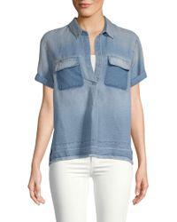 AG Jeans - Fringe Short-sleeve Top - Lyst