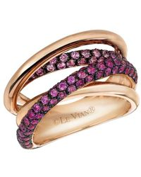 Le Vian - Chocolatier® Bubblegum Pink Sapphirestm & 14k Strawberry Gold® Gladiator Weave Ring - Lyst