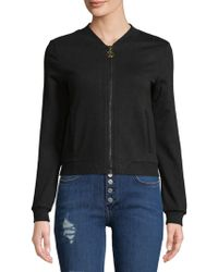 Roberto Cavalli - Embroidered Full Zip Cotton Hoodie - Lyst