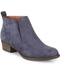 Lucky Brand - Bianna Leather Booties - Lyst