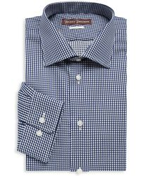 Hickey Freeman - Mini Checkered Cotton Dress Shirt - Lyst