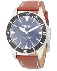 Filson - Dutch Harbor Stainless Steel & Leather-strap Watch - Lyst