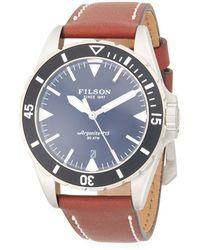 Filson - Dutch Harbor Stainless Steel & Leather-strap Watch - Lyst