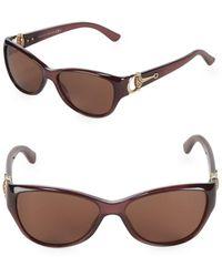 f3a13d9ae1113 Lyst - Gucci 52mm Cat s Eye Sunglasses in Black