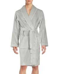 Saks Fifth Avenue - Long Sleeve Cotton Robe - Lyst