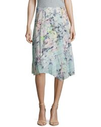Basler - Floral-print Asymmetric Skirt - Lyst