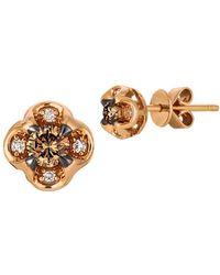 Le Vian - Chocolatier Vanilla Diamond, Chocolate Diamond And 14k Strawberry Gold Earrings - Lyst