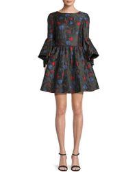 Alice + Olivia - Posie Floral Fit-&-flare Dress - Lyst