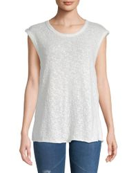 James Perse - Web Jersey Cotton T-shirt - Lyst
