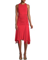Maggy London - Ruched Sleeveless Dress - Lyst