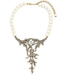Heidi Daus - Deco Faux Pearl And Crystal Pendant Necklace - Lyst