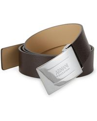 Armani - Col Leather Belt - Lyst