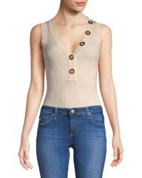 Ronny Kobo - Romy Button-accented Bodysuit - Lyst