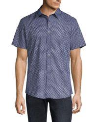 Slate & Stone - Men's Seashell-print Short-sleeve Sport Shirt - Lyst