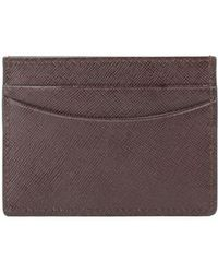 Saks Fifth Avenue - Saffiano Leather Cardholder - Lyst