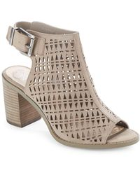 Vince Camuto | Triana Stacked-heel Open-toe Sandals | Lyst
