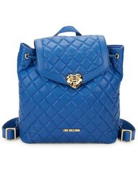 Love Moschino - Quilted Drawstring Backpack - Lyst