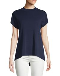 Anne Klein - Short-sleeve Hi-lo Top - Lyst