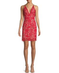 Dress the Population - Marie Floral Lace Dress - Lyst