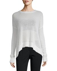 Zadig & Voltaire - Killy Fishnet Deluxe Cashmere Sweater - Lyst