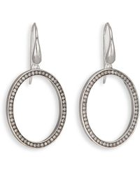 Ippolita - Stella Diamond & Sterling Silver Medium Oval Drop Earrings - Lyst