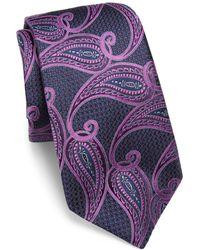 Ike Behar - Paisley Printed Silk Tie - Lyst