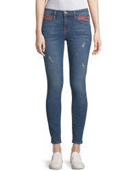 Etienne Marcel - Distressed Skinny Jeans - Lyst