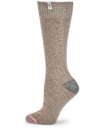 UGG - Wool Blend Colorblock Boot Socks - Lyst