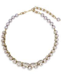 Heidi Daus - Faux Pearl And Swarovski Crystal Necklace - Lyst